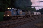 CSX SD70AC 4797 leads Q410-08