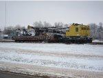 Union Pacific Ohio Crane 903060 and Missouri Pacific Boom Flat Car 819642
