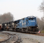 NS 8303 still wearing the CR blue pulling the NS 285 south