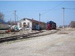 WAMX GP38 nos. 3812 and 3811 at the Santa Fe freight station