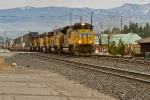 UP 8409 Leading Westbound Stacks and TOFCs