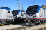 Amtrak ACS-64's 600, 602 and 606