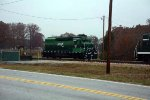 heading south to pick up some tank cars