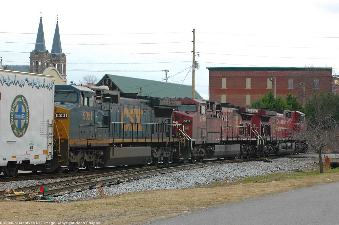 CSX Q647.18 with CP 9632(Lead) and CP  8617 with CSX 9051