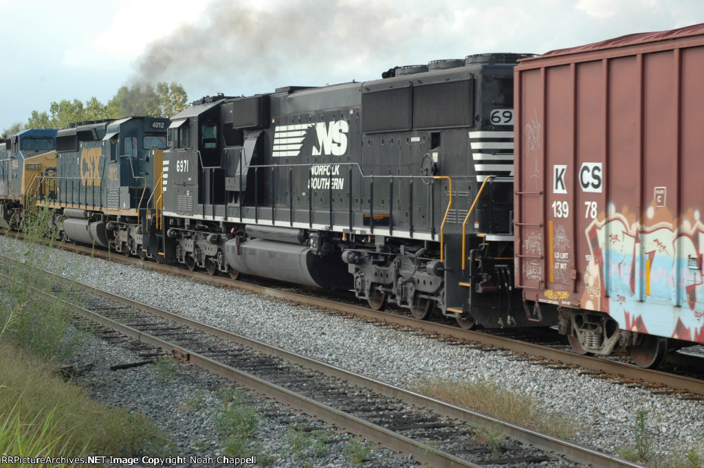 Both a CSX SD40-3 Rebuild and a NS SD60E rebuild together.