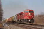 Eastbound CP Rail freight train