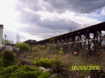 A section of sheet metal closes off the SIRT trestle