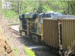 Another shot of CSX 724 and CSX 934 headed south