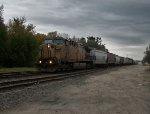 UP 6867 eastbound UP loaded grain train