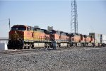Westbound intermodal rolls past West Tower