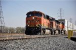 Westbound intermodal waits to proceed