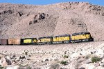 Union Pacific #3015 eastbound with CNW unit nears Las Vegas.