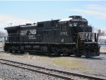 Norfolk Southern no. 8765 stands alone a long way from home
