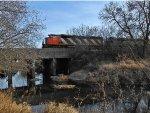 CN 5555 & IC 1026 Crossing Rock Creek