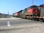 CN 8906 & 2402 trail on a SB Manifest.