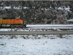BNSF C44-9W 4171 with a train somewhere between Billings and Livingston, Montana