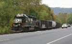 NS 5822 with the local to Gauley on NYC trackage
