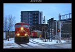 CP 8734, UP 5535, CP 8573, & 2212 bring 281 west