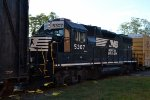 NS GP38-2 5307 stuck in the middle on WPCA-20