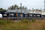 Assorted NS and CSX Geeps sit in Pavonia Yard