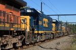 CSX GP38-2 2559 trails on Q418-15
