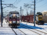 MBTA inbound meets a CSX local