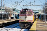 MBTA 1034 pushes an inbound towards Boston
