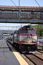 MBTA 1030 leads an outbound