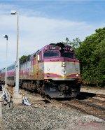 Fairmount Line train arriving from Boston