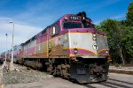 MBTA 1031 pulls in with a Fairmount Line outbound