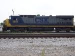 A CSX Engine sits in Montgomery waiting for a crew.