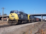 CSX Coal train heading for Florida sits on the main line in Opelika waiting for a clear signal.