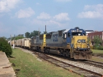 2 CSX SD-50 head south.