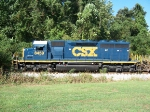 CSX Local, A746 pick us some woodchip hoppers in Opelika.