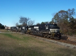 5 NS units lead a rather small train west from Opelika.