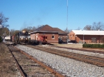 NS A48 passes the old depot in downtown Opelika.