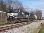 2 Consecutively numbered NS Dash-9s head east from Opelika.
