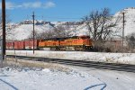 BNSF 871 Point On East Bound Beer Train From Golden