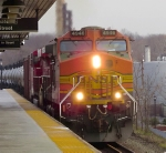 BNSF 4946 through Union, NJ