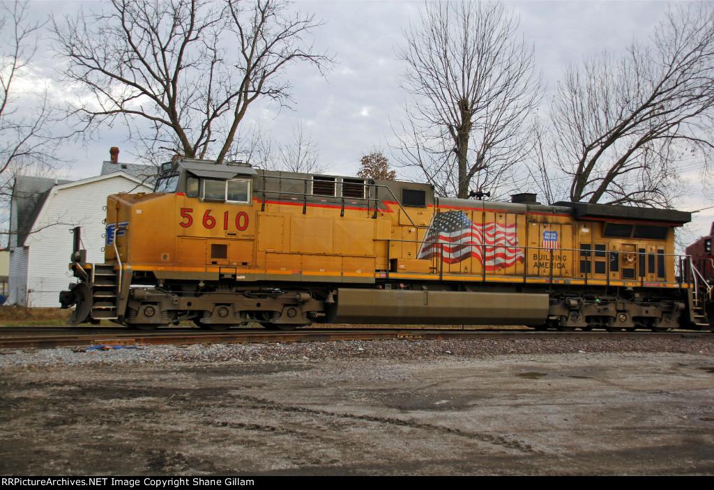 UP 5610 Trails dpu on a SB coal train.