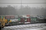 3 Ex BNSF SD60M's sit at the Trra yard,