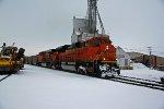 BNSF 9167 Slams a coal load SB out of Old Monroe Mo.