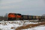 BNSF 9339 Working Dpu past the Frozen tundra.