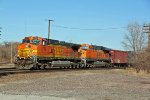 BNSF 4779 Heads up a loaded Oil can.