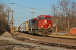 CP 8750 Leads a Up freight SB with a CEFX unit 2nd out!!