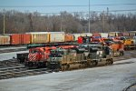 NS 2770 and more nice power sit around the TRRA yard.