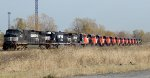NS H53 Picking up 11 Brand New CN GEVO's in SK Yard