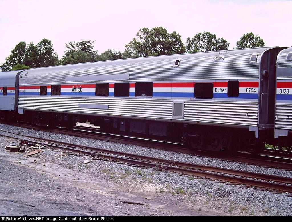 AMTK 8704 Buffet Diner on Auto Train - 1985