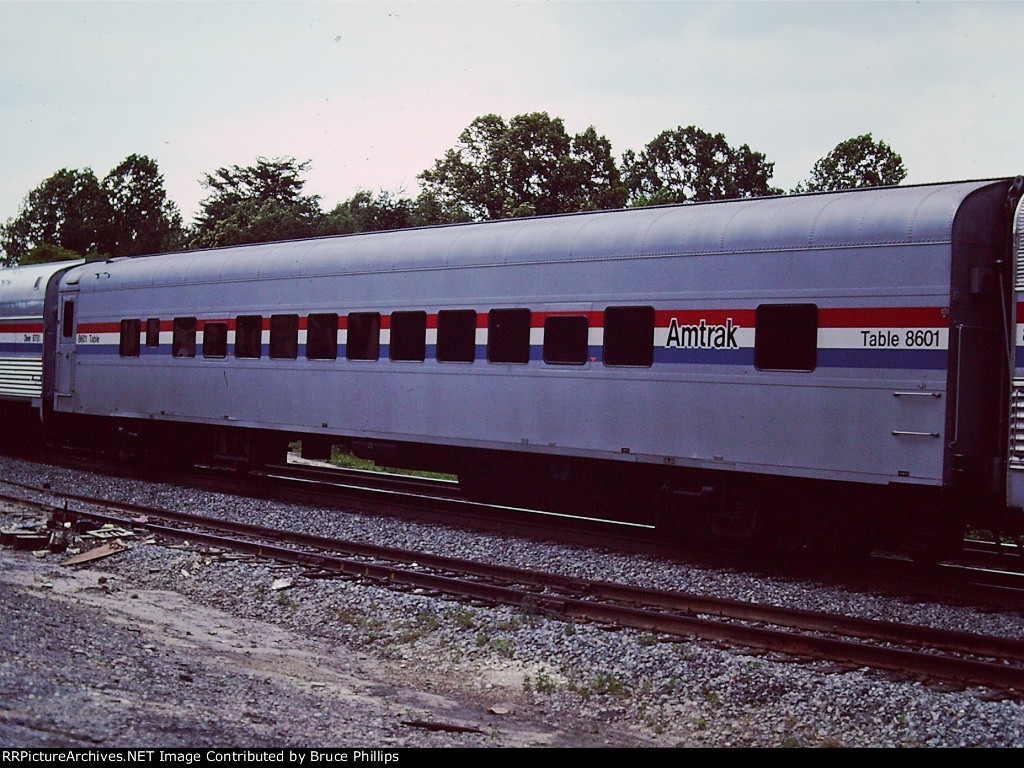 Amtrak Table Car for Auto Train Buffet - 1985