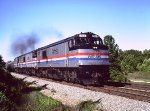 Amtrak Auto Train with P30CHs - 1983